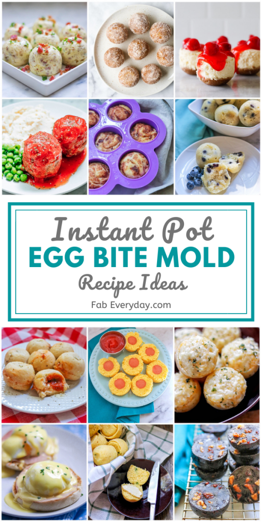 13 Instant Pot egg bite mold recipes (you can make so much more than eggs in Instant Pot silicone molds!)