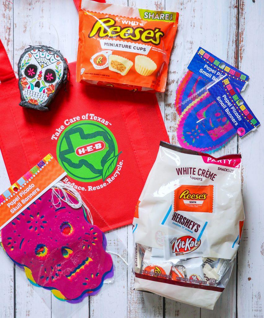 How to make a Dia de Los Muertos Hershey Sugar Skull Candy Tray