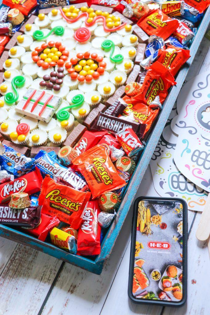 Dia de Los Muertos Hershey Sugar Skull Candy Tray