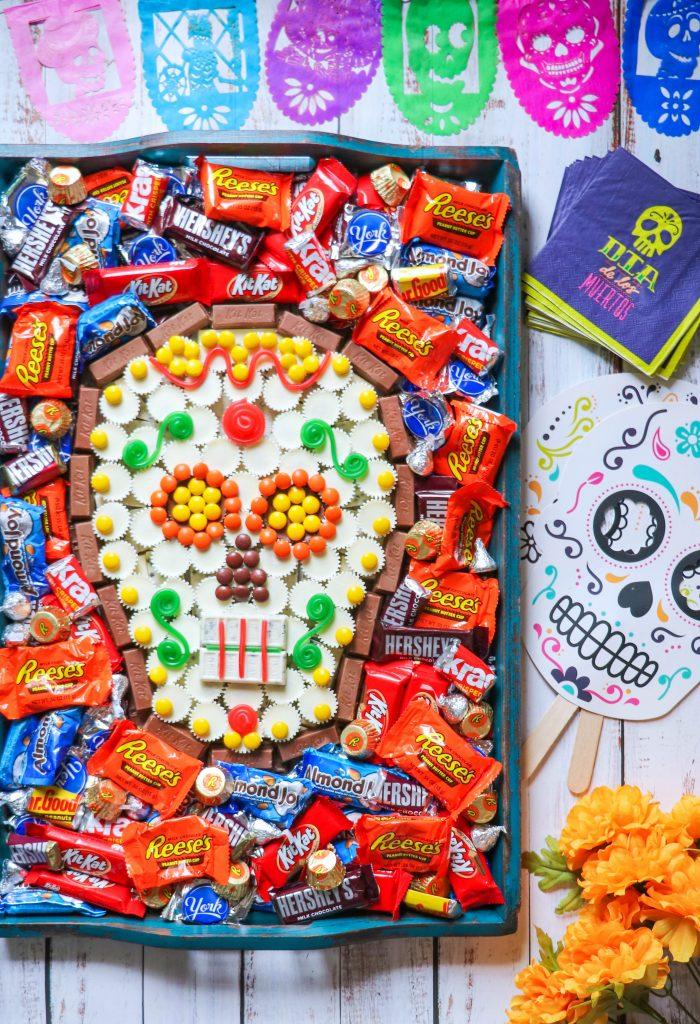 Day of the Dead sugar skull party tray