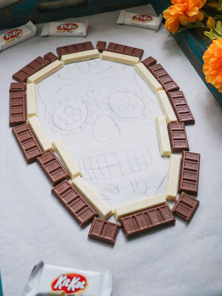 Day of the Dead sugar skull party tray tutorial