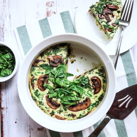 Instant Pot Mushroom and Spinach Frittata (keto Instant Pot breakfast recipe)