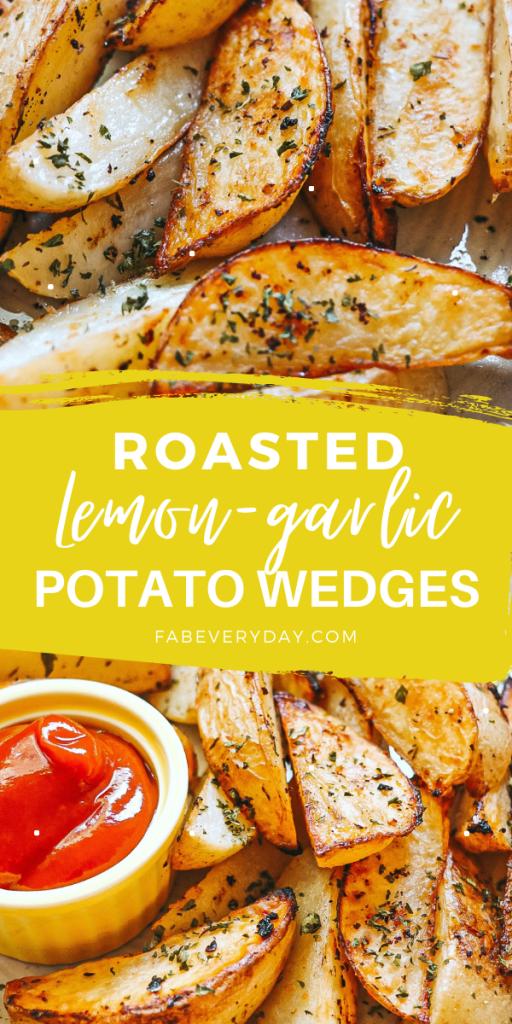 Lemon-Garlic Potato Wedges recipe