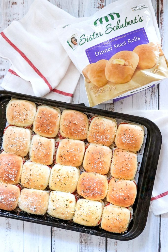 Pull Apart Pizza Rolls (make ahead lunch idea for busy