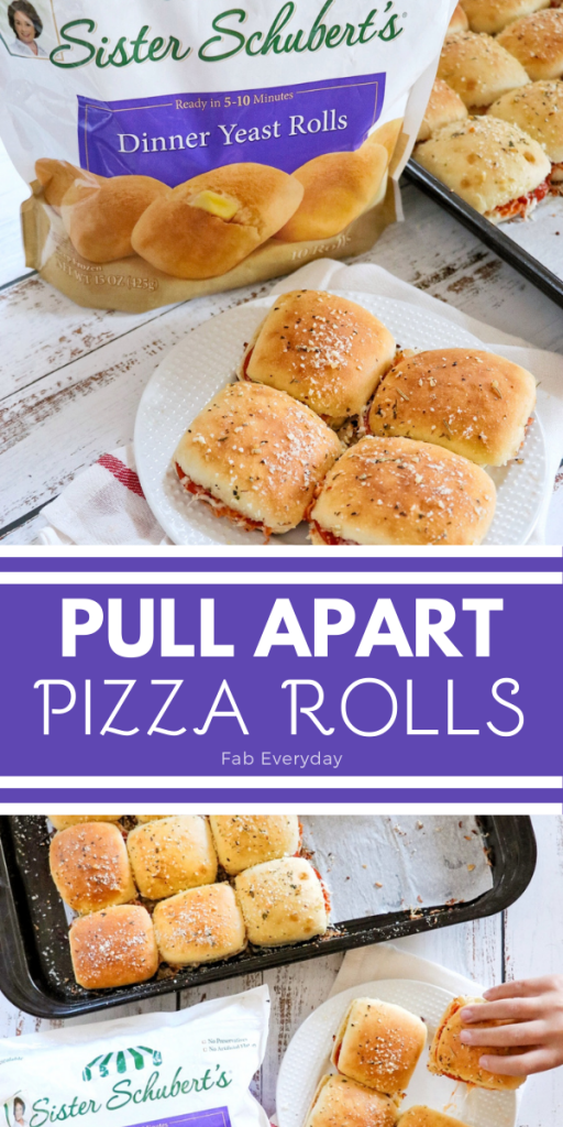 Pull Apart Pizza Rolls (make ahead lunch idea for busy days)