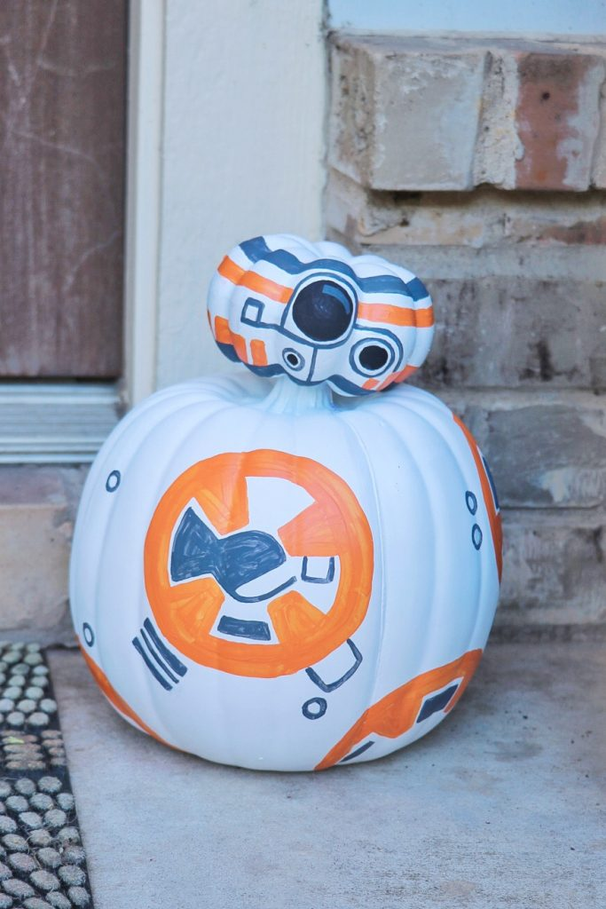 Star Wars Halloween ideas: How to make a BB-8 pumpkin