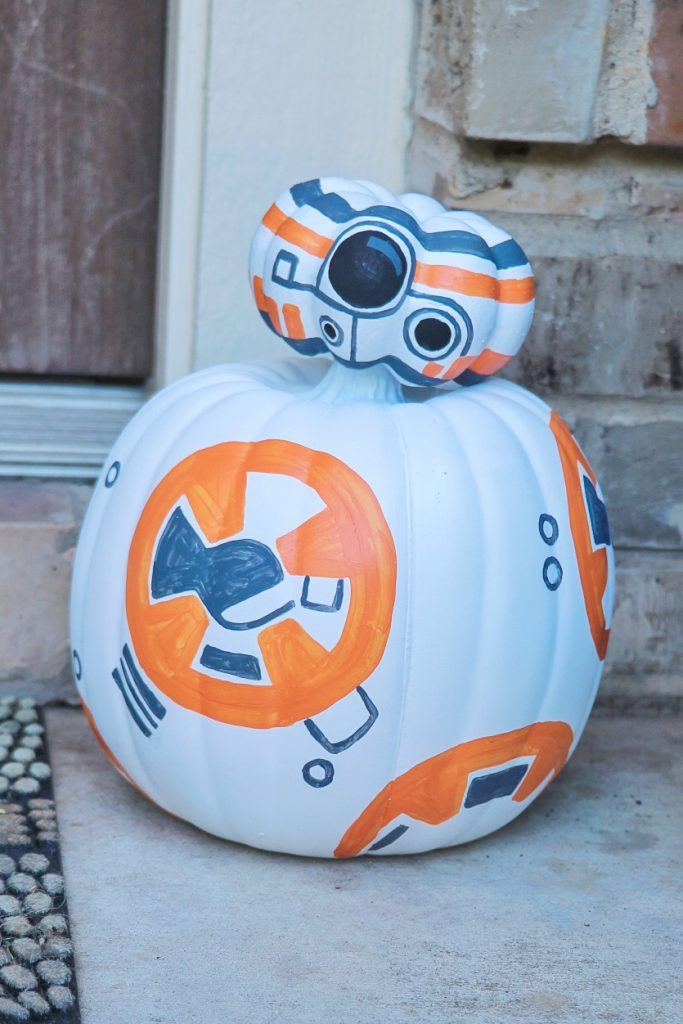 How to make a BB-8 pumpkin