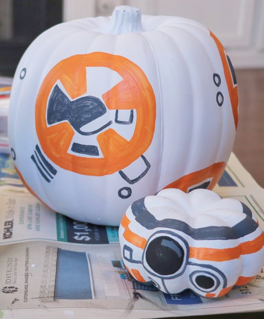 DIY Star Wars BB-8 pumpkin craft