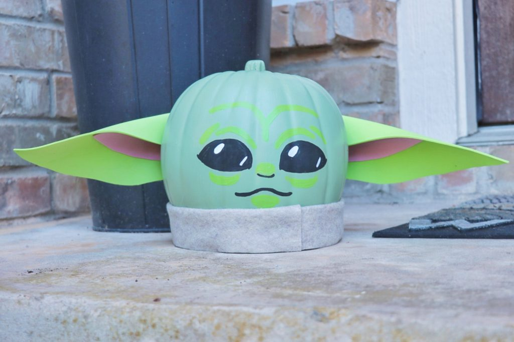 How to make a Baby Yoda pumpkin