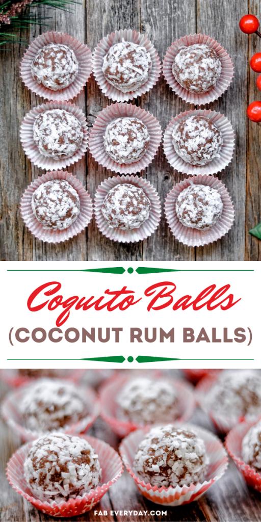 Coquito Balls (Caribbean-Style Coconut Rum Balls)