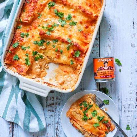 Creamy Chipotle Chicken Enchiladas