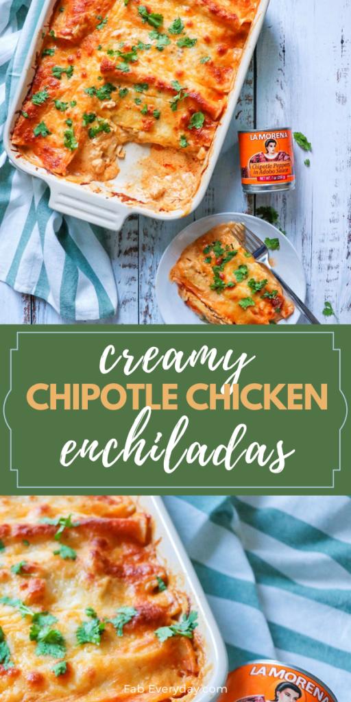 Creamy Chipotle Chicken Enchiladas recipe