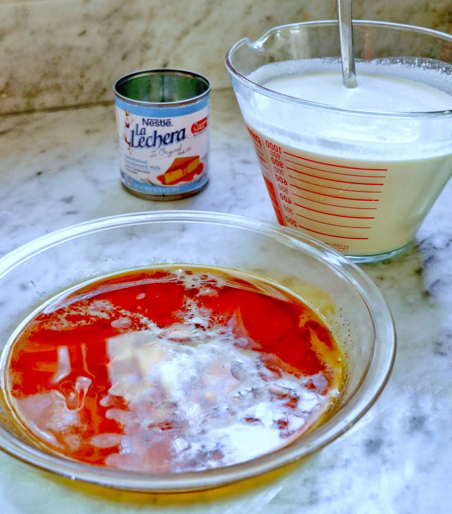 flan de coco with coconut milk