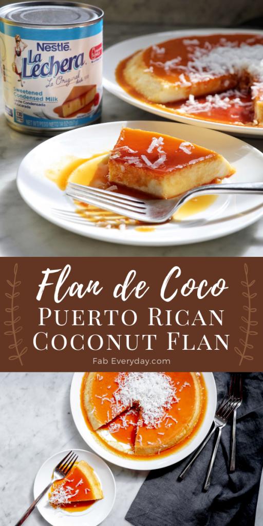 Papa Cruz's Flan de Coco (Puerto Rican coconut flan recipe)