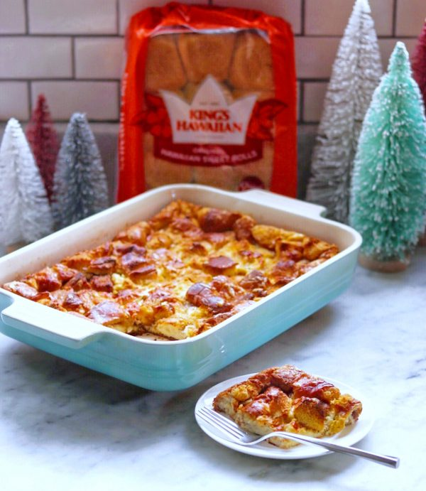 Hawaiian bread French toast casserole
