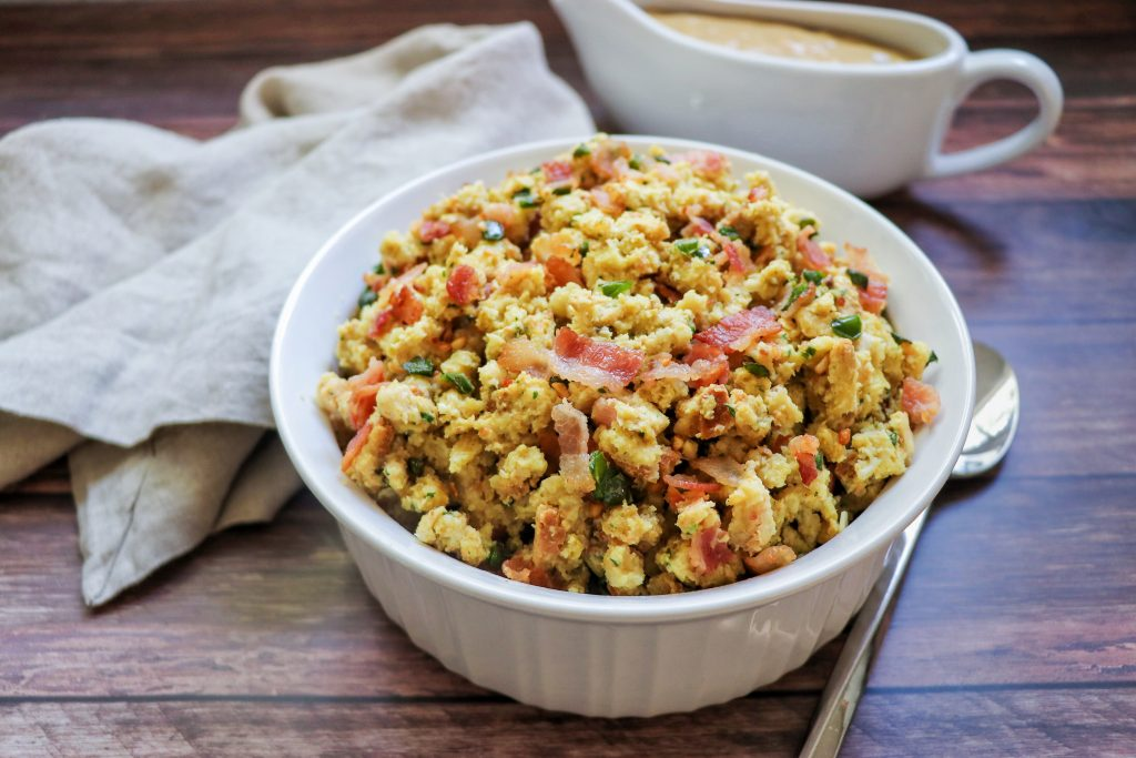 Jalapeño Popper Stuffing recipe Thanksgiving side dish by Fab Everyday