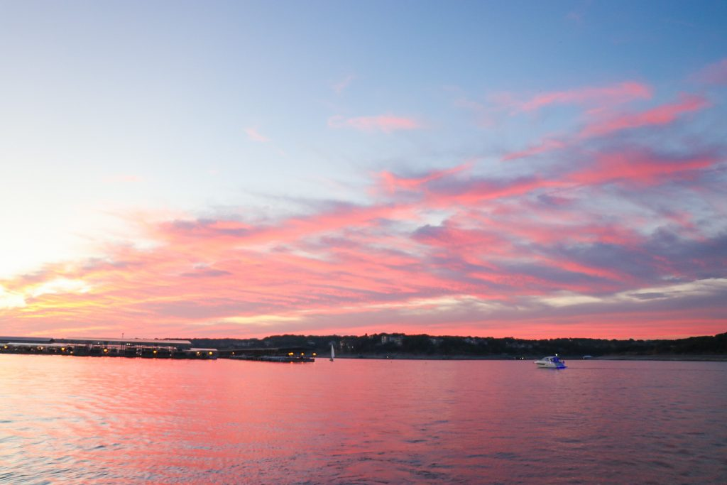Lake Travis sunset in Austin, TX