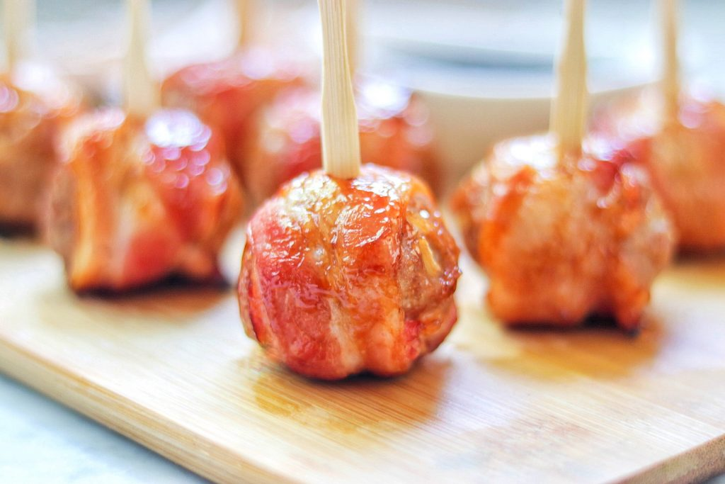 bacon-wrapped meatballs recipe