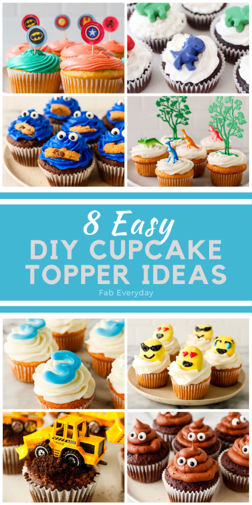 Easy DIY cupcake toppers (8 cupcake topper ideas)