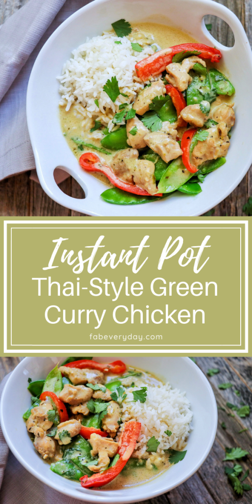 Instant Pot Thai-Style Green Curry Chicken recipe by Fab Everyday