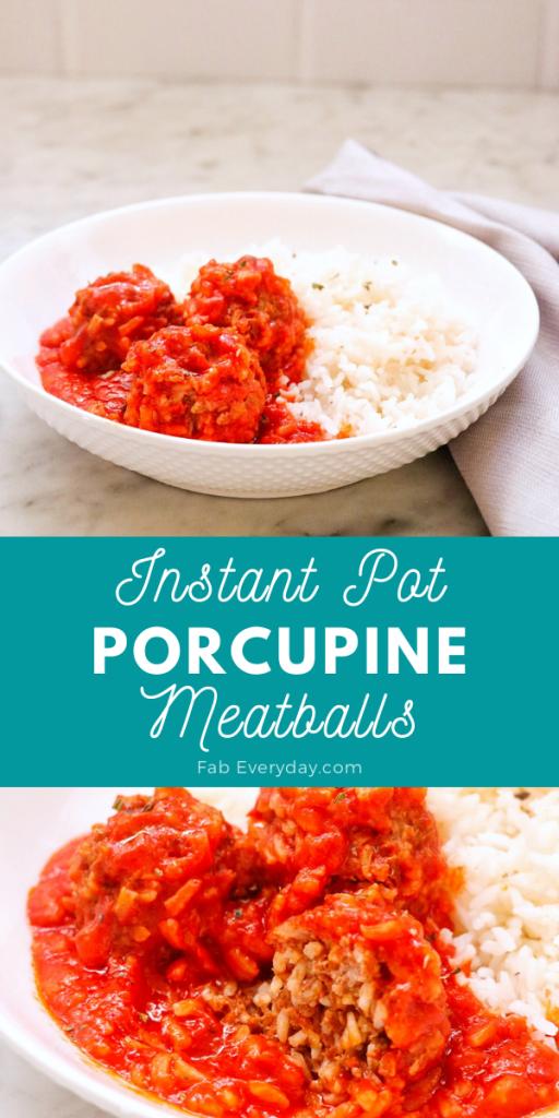 Instant Pot porcupine meatballs recipe