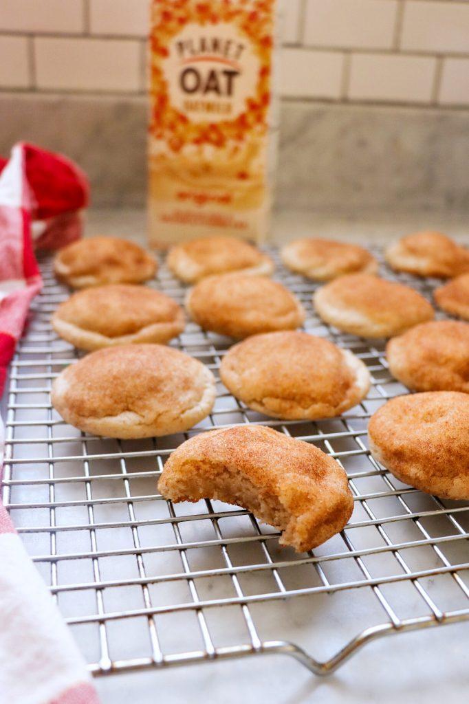 oat milk cookies (dairy free snickerdoodles)