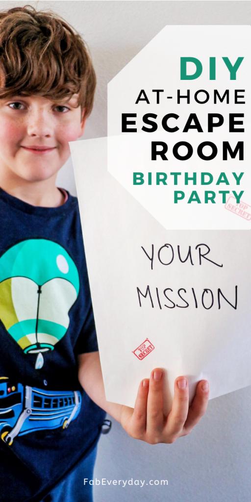 DIY Escape Room Kid's Birthday Party