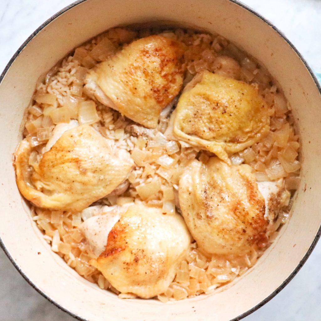 baked lemon pepper chicken and rice