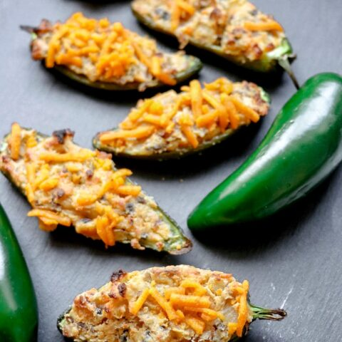 Vegan Jalapeno Poppers recipe (vegan stuffed jalapenos)