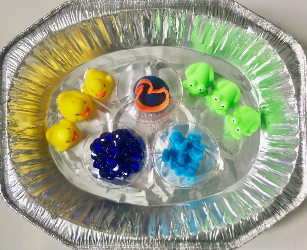 dollar store sensory bins: Play Dough Invitation to Play