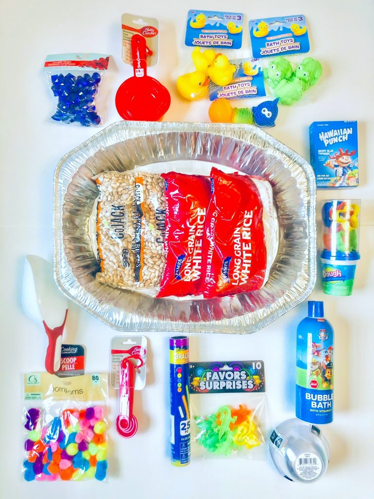 dollar store sensory items