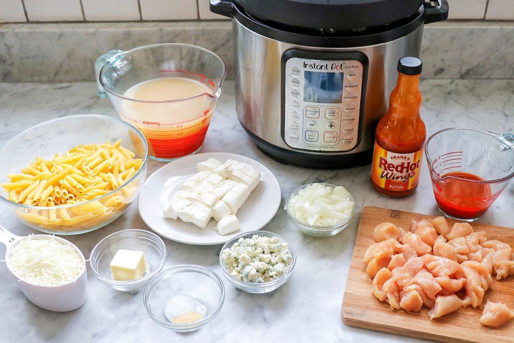 buffalo chicken pasta Instant Pot ingredients