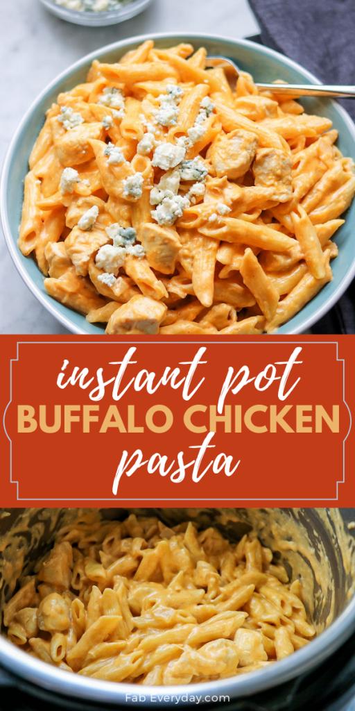 Instant Pot Buffalo Chicken Pasta recipe