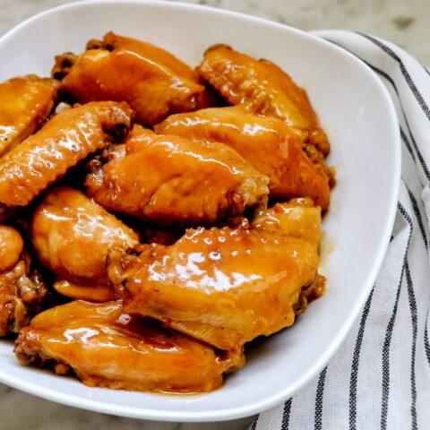 Instant Pot Teriyaki Chicken Wings (pressure cooker chicken wings recipe)