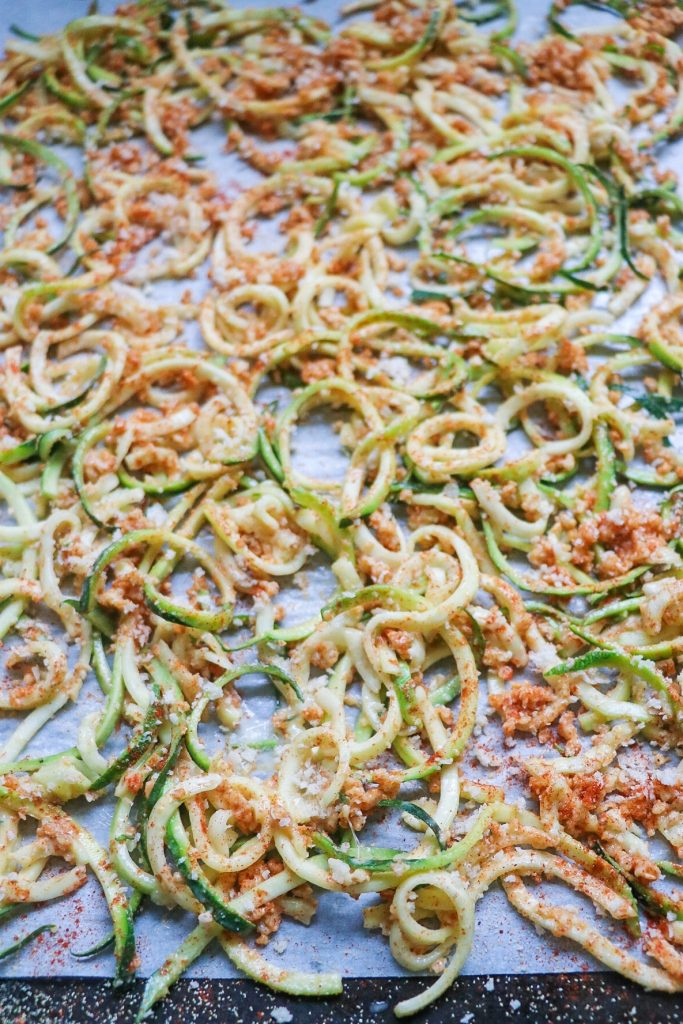 baked zucchini curly fries