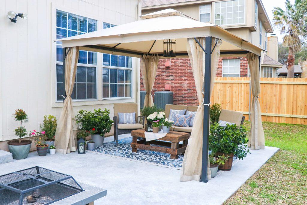 DIY patio makeover on a budget