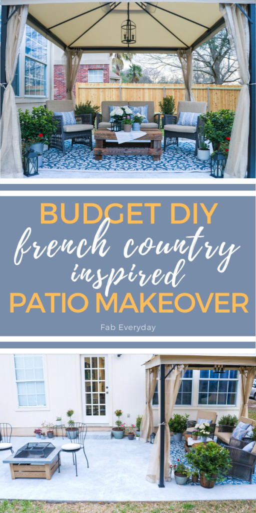 French country-inspired budget patio makeover