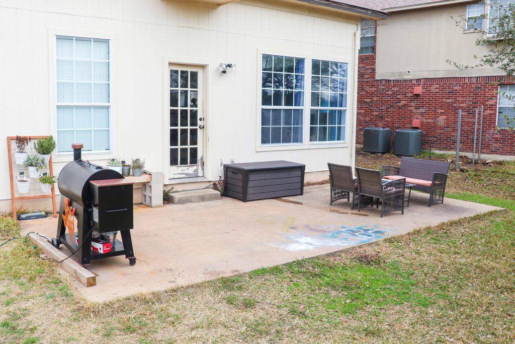 backyard makeover on a budget