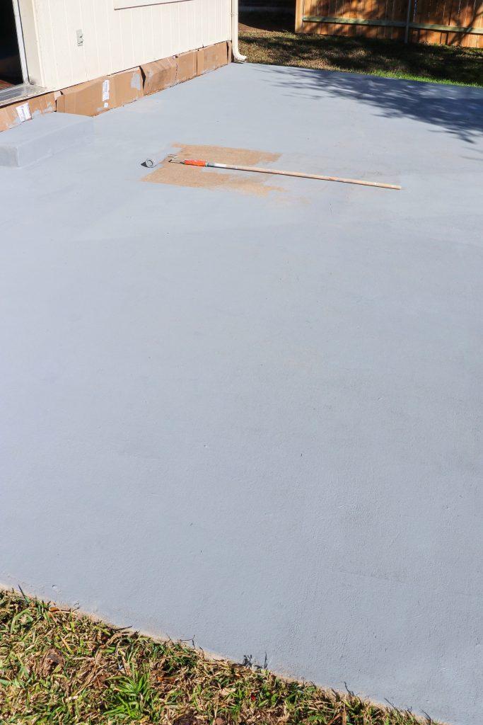 resurfacing a concrete patio
