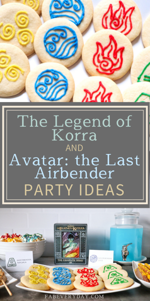 Avatar the Last Airbender and The Legend of Korra birthday party ideas