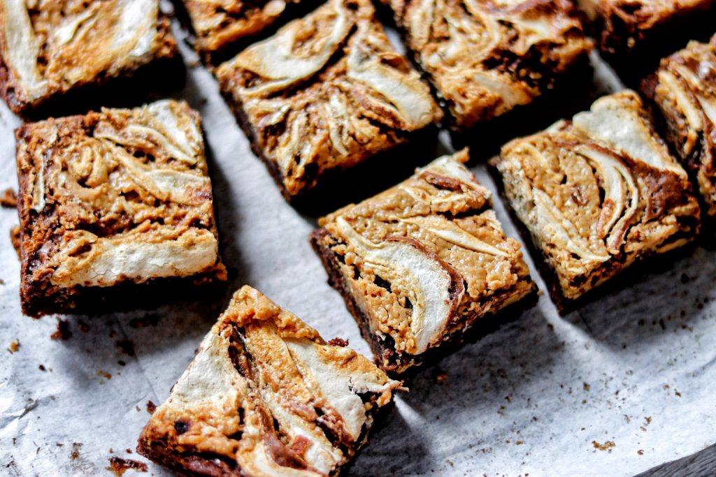 brownies with marshmallow fluff and peanut butter