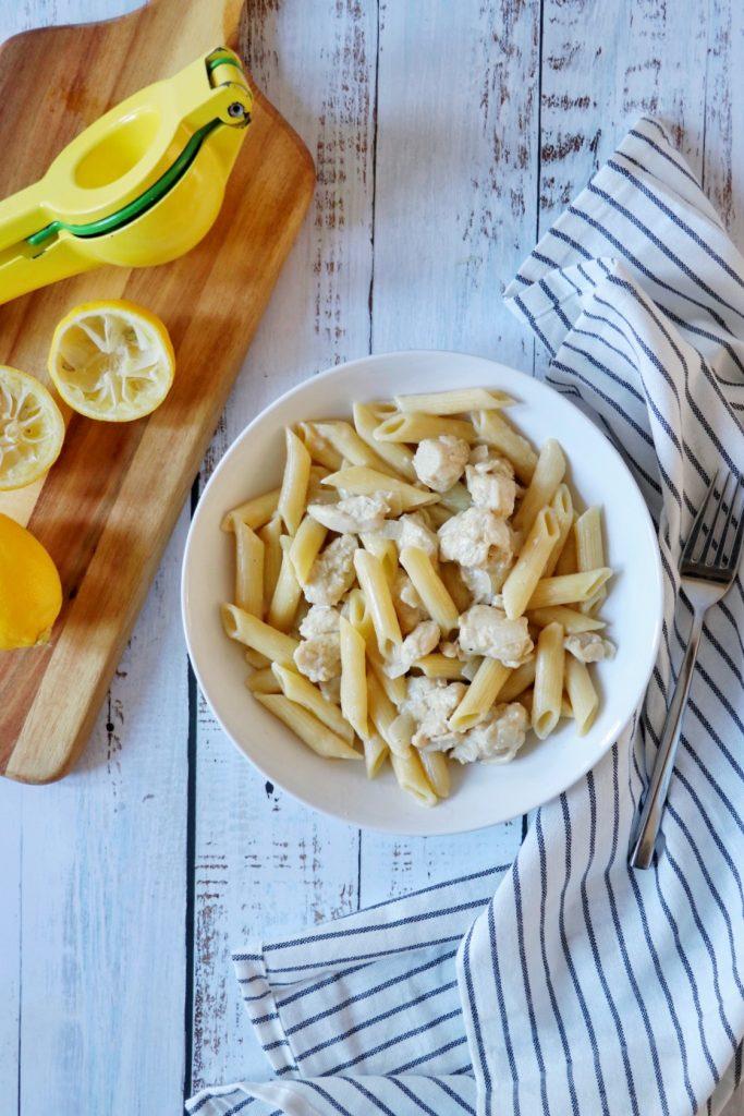 Instant Pot Lemon Chicken Pasta recipe