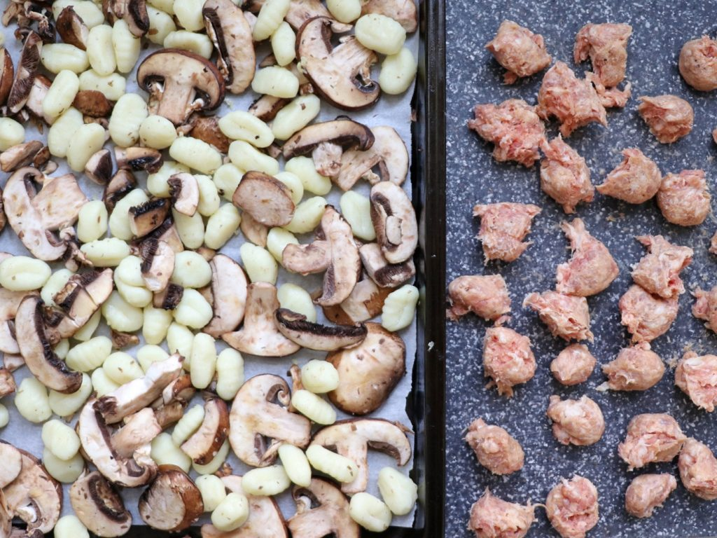 How to make baked gnocchi and sausage