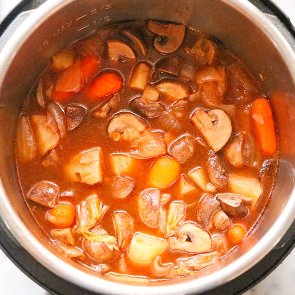 vegan stew made in the Instant Pot