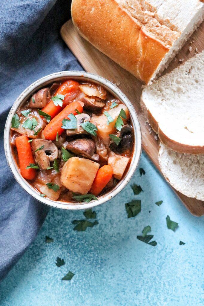 Vegetarian Instant Pot Irish Stout Stew (vegan Irish stew recipe)