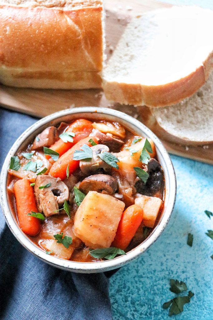 Vegetarian Instant Pot Irish Stout Stew (vegetarian Instant Pot recipes)