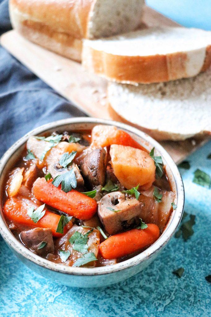 best vegetarian Instant Pot recipes: vegan Irish stew