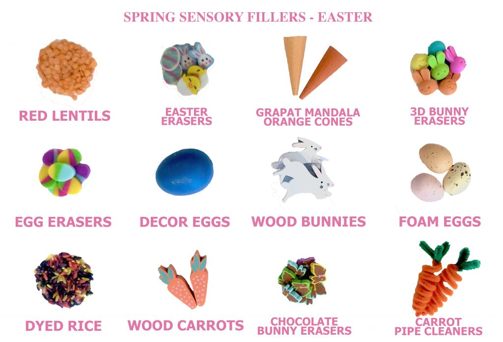 spring sensory table ideas - sensory bin fillers for easter sensory bins