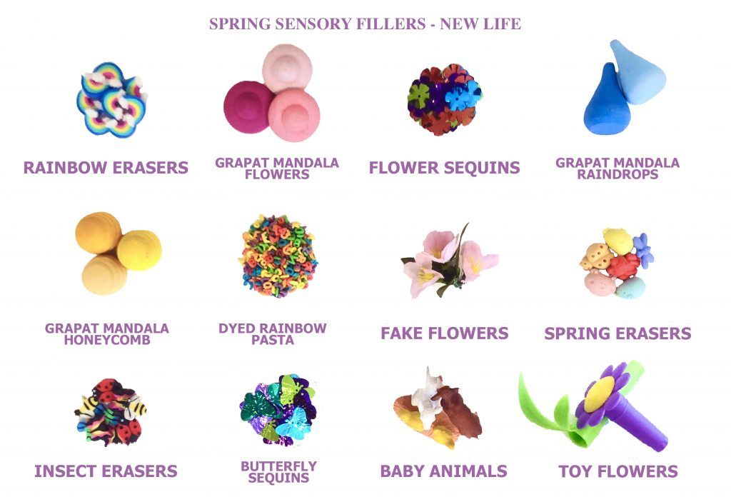 spring sensory table ideas - fillers for spring sensory bins