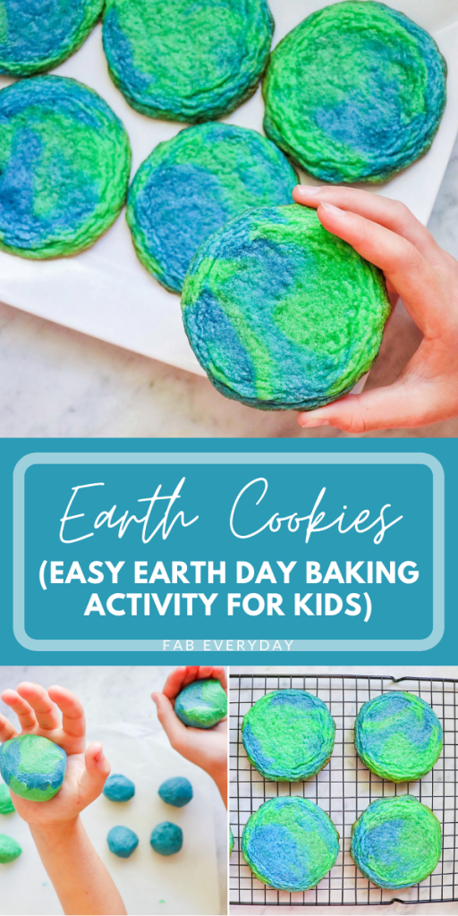 Earth Cookies (easy Earth Day baking idea for kids)